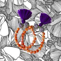Violette Quaste Armband - Achat Armband - böhmischen Schmuck - Quaste Schmuck - 1 Stück