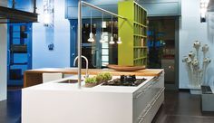 Alno Fine by Alno. This island from German kitchen manufacturer Alno is shown wi… – Rezepte