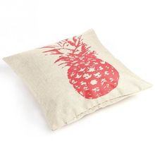 New Style Retro Vintage Throw Home Decorative Cotton Linen Pillow Case Cushion Cover Pink/ Sketch Pineapple -2L(China (Mainland))
