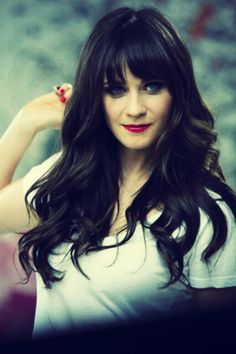 Zooey Deschanel & her gorgeous hair.