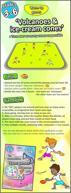Try these 8 super fun warm up PE games for your sport lessons! Great for grades 3-6, and easy to teach