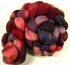 Smolder Merino Wool top for spinning and felting 4.2 by yarnwench, $17.85