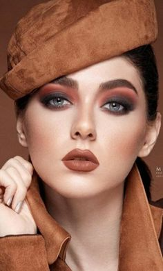 Brown Outfit, Brown Makeup, Hats For Women, Female, Bella, Hair, Beauty, Jewelry, Outfits