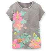 Pretty flowers will have her smiling all the way to the beach. Pair this tee with poplin shorts for a tropical look.<br>