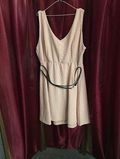 Torrid Peach  Sleeveless Dress Size 4 New With Tags Machine Wash #Torrid #SummerDress #Casual
