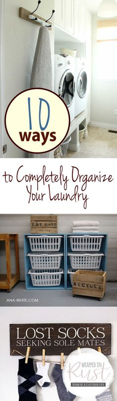 10 Ways to Completely Organize Your Laundry| Laundry Room Organization, Easy Ways to Organize Your Laundry Room, Simple Ways to Organize Your Laundry Room, Laundry Room Organization Hacks, Popular Pin