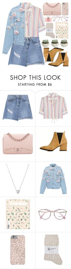 """""""Untitled #529"""" by inkcoherent ❤ liked on Polyvore featuring Solid & Striped, Chanel, Links of London, Anouki, Miu Miu, Johnstons and philosophy"""
