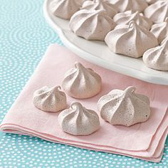 Cocoa-Coffee Meringue Kisses | MyRecipes.comMy grandma used to make meringues a cookie called sea foam...this one sounds good to me!