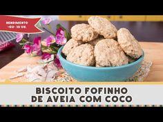 Biscoito Fofinho de Aveia com Coco - Receitas de Minuto EXPRESS #185 - YouTube