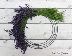 How To Make A Lavender Wreath. Wreath form (metal, grapevine or foam), floral wire, wire cutters