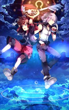 Sora and Riku.
