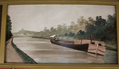 River Barge    The following outer rounding board paintings are professionally restored paintings originally placed in 1910 for the Silver Beach Fred Dolle Carousel in St. Joseph, Michigan. They were painted by German immigrant, August Wolfinger. They were restored during the period of 2007-2008, by Denver based fine artist and professional restorer, Eddie Friedman, now deceased.
