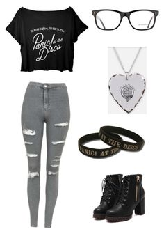 """""""Panic! At the disco concert outfit"""" by allisonplank on Polyvore featuring art"""