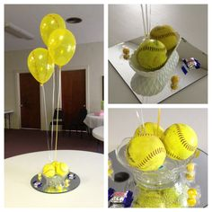 Softball themed baby shower