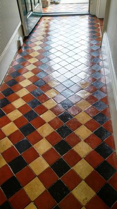Old Victorian tiled hallway after cleaning Louth - Painted Floor Tile Tile Renovation, Cleaning Tile Floors, Tile Floor, Cool House Designs, Flooring, Hall Tiles, Victorian Tiles, Tiled Hallway, Victorian Interiors