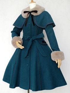 Rose Lace Ribbon Fur Coat