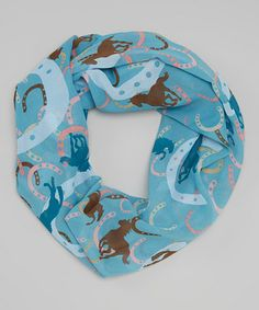 Loving this Blue Horse Infinity Scarf on #zulily! #zulilyfinds