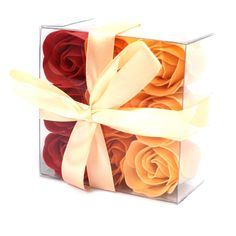 Set of 9 Soap Flower Box - Peach Roses – Pukka Gifts Real Flowers, Pretty Flowers, Romantic Bath, Polyvinyl Alcohol, Mum Birthday Gift, Rose Bath, Box Roses, Christmas Stocking Fillers, Rose Soap