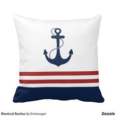 Nautical Anchor Throw Pillows
