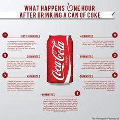 Coca Cola, gli effetti sul corpo dopo averne bevuto una lattina svelati in uninfografica di un farmacista britannico  (FOTO)