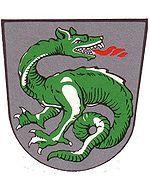 Lindworm (dragon bipède dénué d'ailes): anciennes armoiries bavaroises