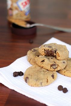 chocolate chip peanut butter cookies...IMG_2625 by jigginjessica, via Flickr