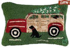 Woody Wagon Pillow