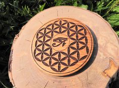 """Board or Magnet for home Flower of Life """"Wadjet"""" Teak Oil, Wiccan Jewelry, Order Flowers, Pentacle, Flower Of Life, Gold Chains, Magnets, Objects, Handmade Items"""