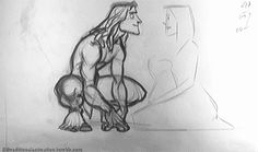 Traditional Animation — Tarzan and Kershak - Bolhem Bouchiba Animation Sketches, Animation Reference, Art Reference, Disney Kunst, Disney Art, Disney Films, Disney Sketches, Disney Drawings, Storyboard