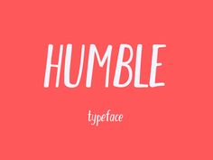 humble free font
