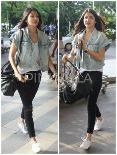 Anushka Sharma clicked at the airport