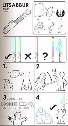 IKEA LITSABBUR Instructions Star Wars