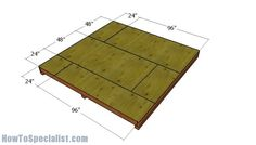 Shed Plans – DIY Step by Step Fitting the floor sheets 10x10 Shed Plans, Wood Shed Plans, Shed Building Plans, Diy Shed Plans, Storage Shed Plans, Building Homes, Bench Plans, Building Design, Garden Storage Shed