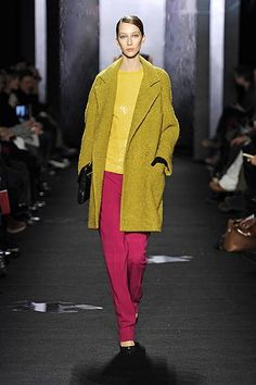 DVF Fall 2012- again w/the yellow/chartreuse - yum