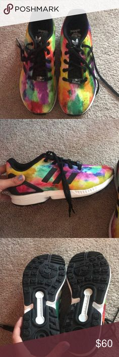 Adidas ZX FLUX Brand new without tags, only wore them once to try them on! Size 5 adidas Shoes Athletic Shoes