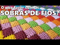 Se você faz crochê certamente guarda as sobras de fio na esperança de um dia utilizá-los de alguma forma. Então para facilitar sua vida eu trouxe o passo a Samuel Ramos, Crochet Square Blanket, Crochet Tablecloth, Crochet For Beginners, Dory, Projects To Try, Crochet Patterns, Rug, Braided Rug