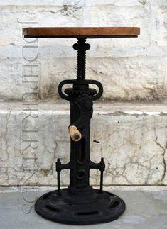 vintage industrial stool, industrial furniture jodhpur india