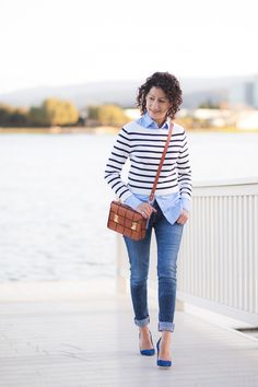 Cropped Stripe Sweater | Petite Fashion | Alterations Needed