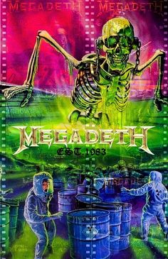 🖤🖤🖤 Megadeth Albums, Vic Rattlehead, Metallica Art, Tool Band, Heavy Metal Rock, Metallic Wallpaper, Thrash Metal, Metalhead, Skull Art