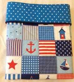 Baby+boys+nautical+nursery+crib+cot+quilt+by+PiggyAndSquirrel,+$125.00
