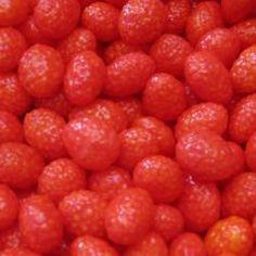 fraises des bois ,les bonbons qui coûtaient 1 centime .