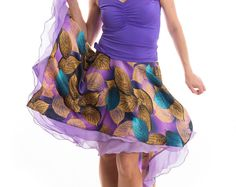 Argentina Tango falda, ropa de tango, performance falda,