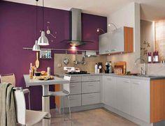 Purple Black And White Kitchen Paint Color Ideas