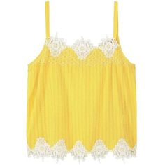 Decorative Embroidery Top (145 SEK) ❤ liked on Polyvore featuring tops, blouses, embroidery top, yellow top, embellished top, embroidered top and textured top