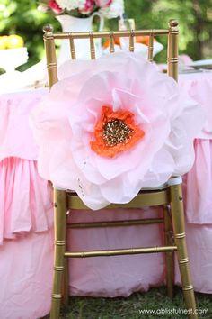 Oversized Tissue Paper Flowers - DIY Tutorial #FavoriteThingsGiveaway #ablissfulnest #tissuepaperflower