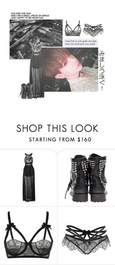 """""""☠Forget about prince charming! He was overrated anyways!☠"""" by b33heartsmusicandfashion ❤ liked on Polyvore featuring Three Floor, Ash, Agent Provocateur, blackandwhite, monstax, wonho and brithaniescreations"""