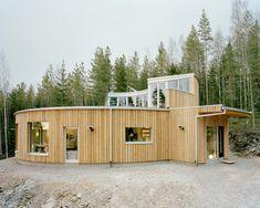 Modern architecture design round passive house