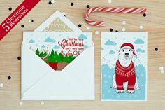 Set of 5 Christmas illustrations ~ Illustrations on Creative Market