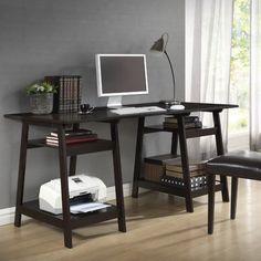 Interiors Baxton Studio Modern Writing Desk with Sawhorse Legs