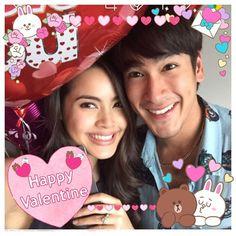 #UrassayaSperbund #YAYA #nadech #happyvalentinesday Celebrity Couples, Happy Valentines Day, Happiness, Instagram, Dramas, Asian, Tv, Bonheur, Television Set
